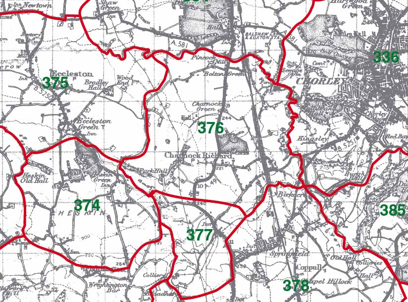 Charnock Richard Map