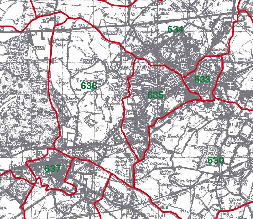 Eccleston Map