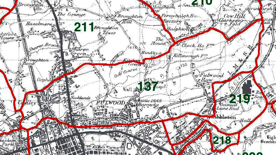 Fulwood Map