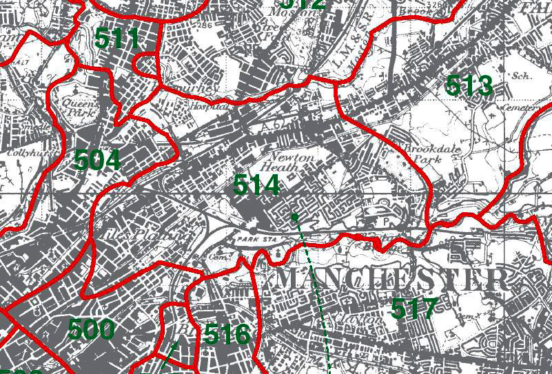 Newton Heath Map