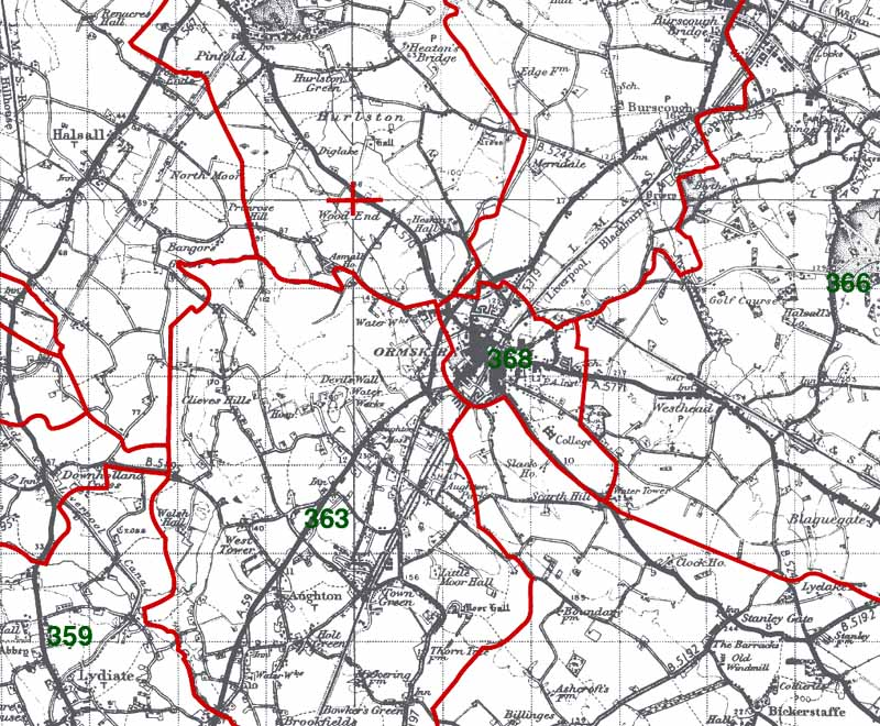 Ormskirk Map