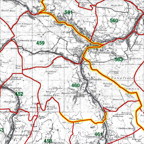 Todmorden and Walsden Map