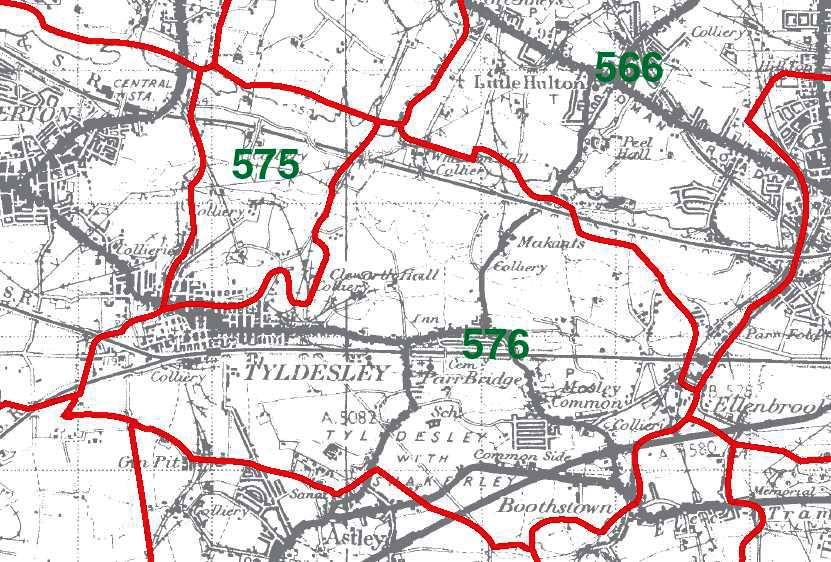 Tyldesley with Shakerley Map