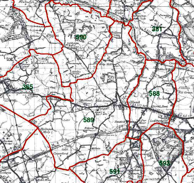 Upholland Map