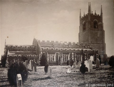 An old photograph of All Saints Church, Great Barford