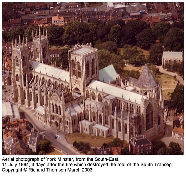 York Minster, from the air