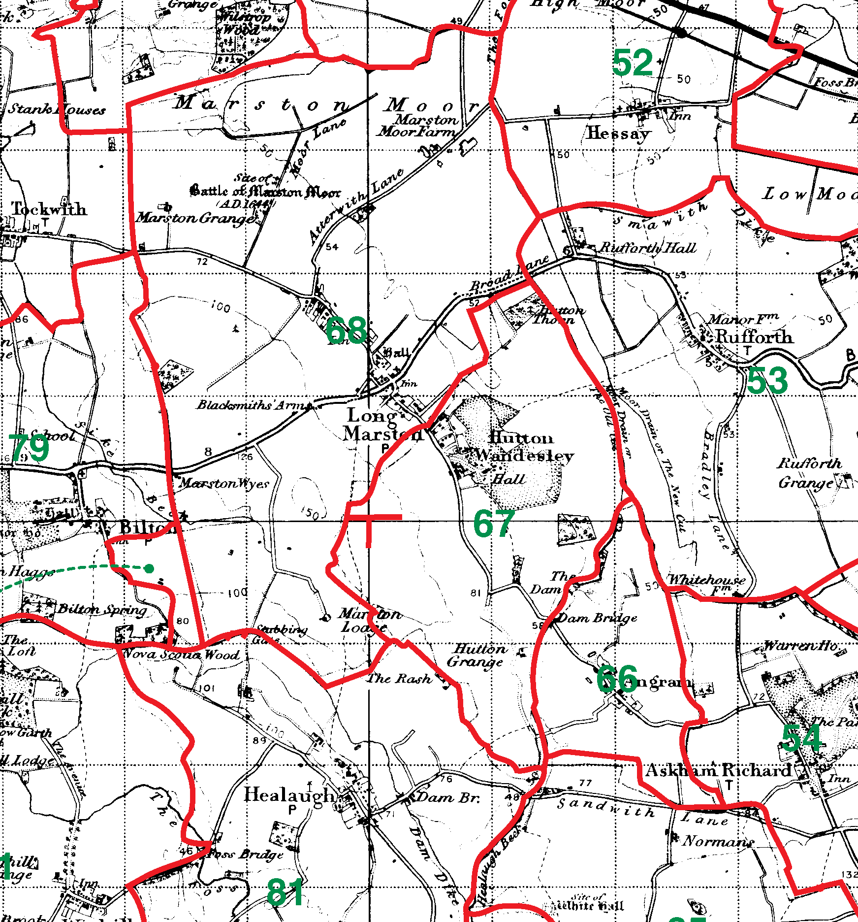 Long Marston boundaries map