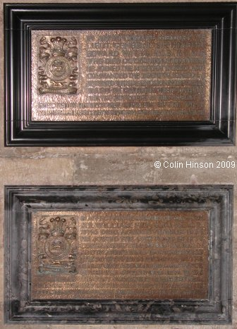 The Memorial Plaques to Sir Herbert Watts and Sir William Fry in York Minster.