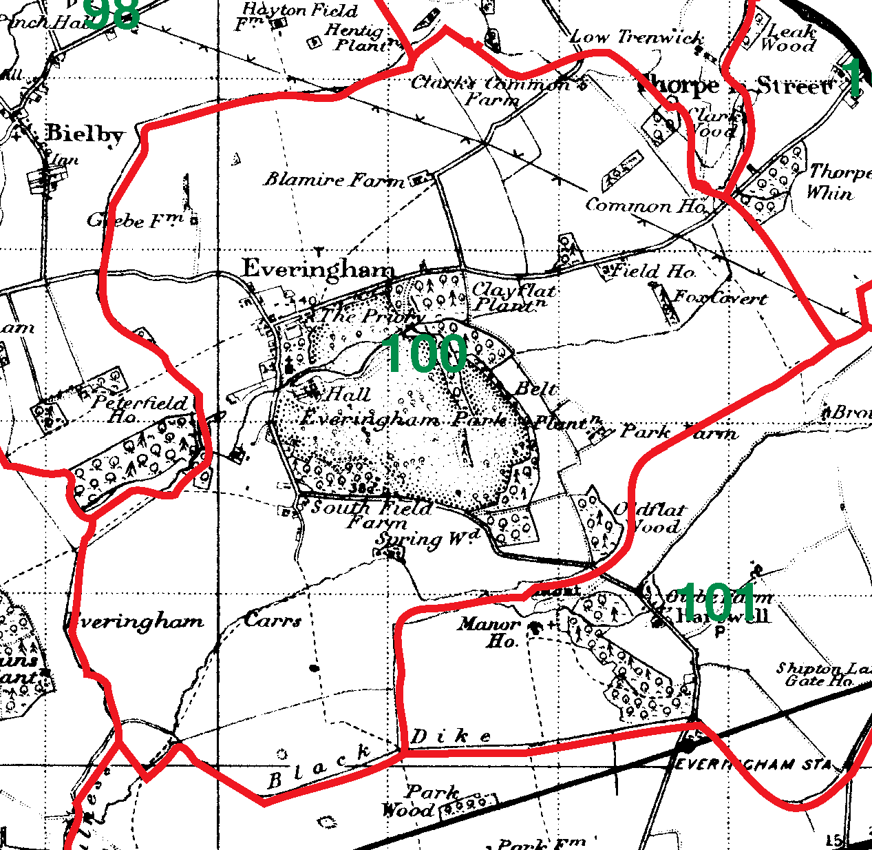 Everingham boundaries map