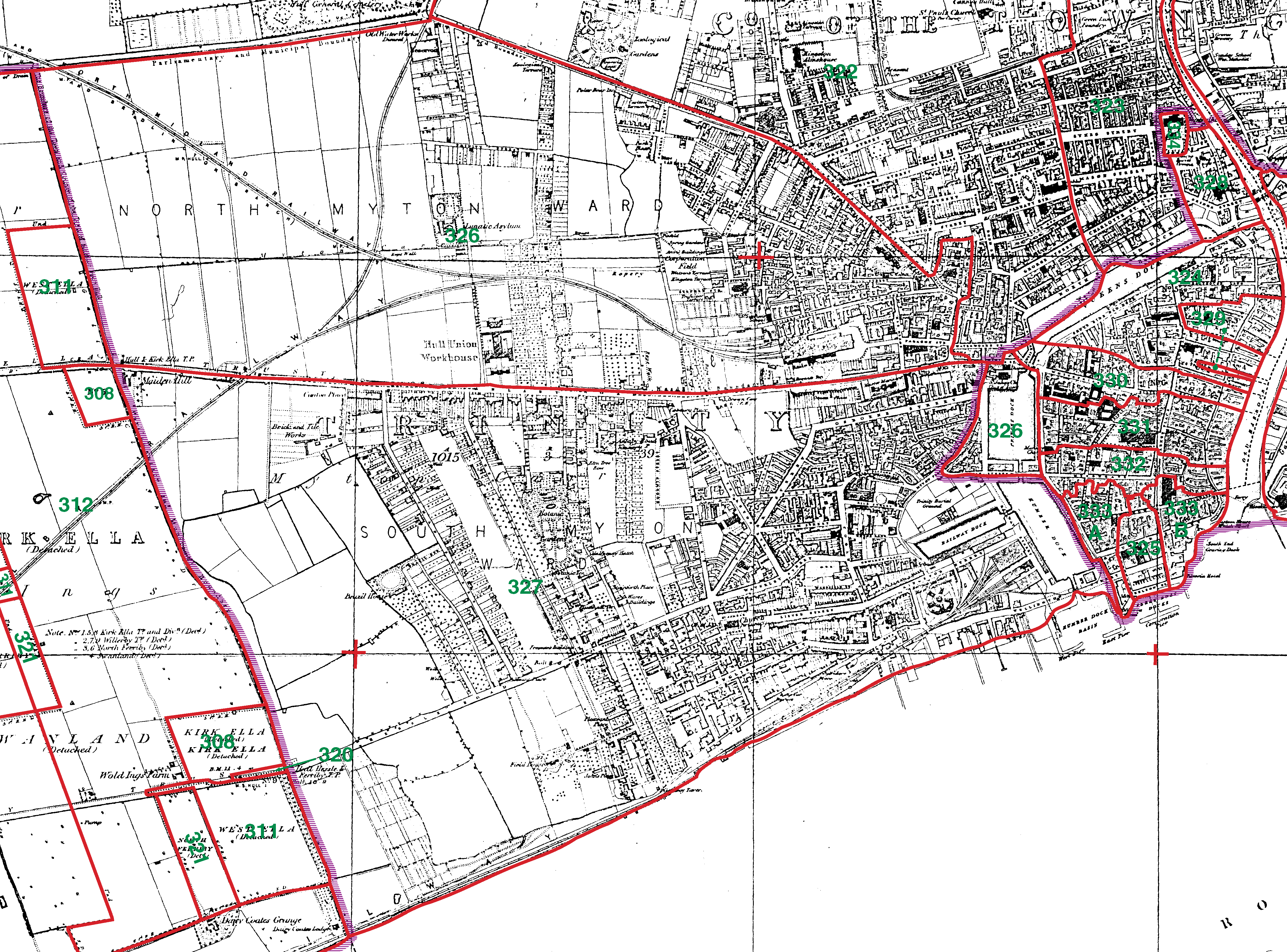 Hull St Mary boundaries map
