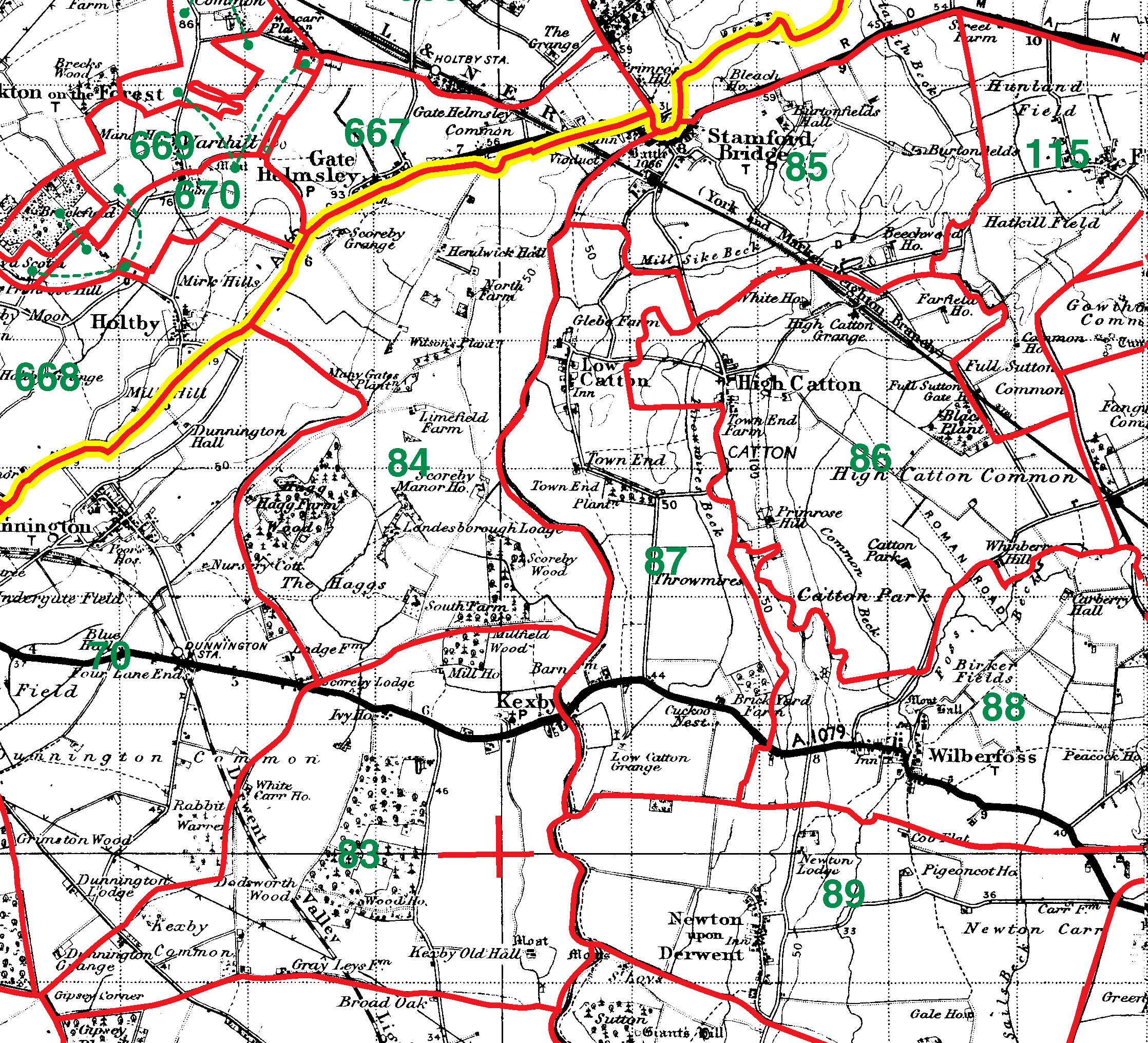 Low Catton boundaries map