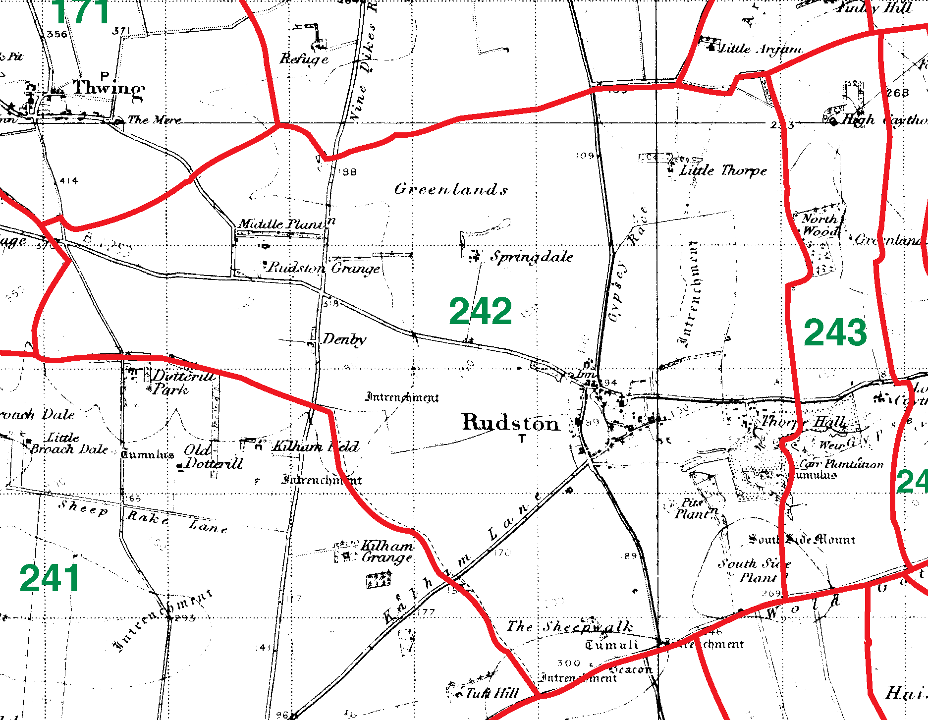 Rudston boundaries map