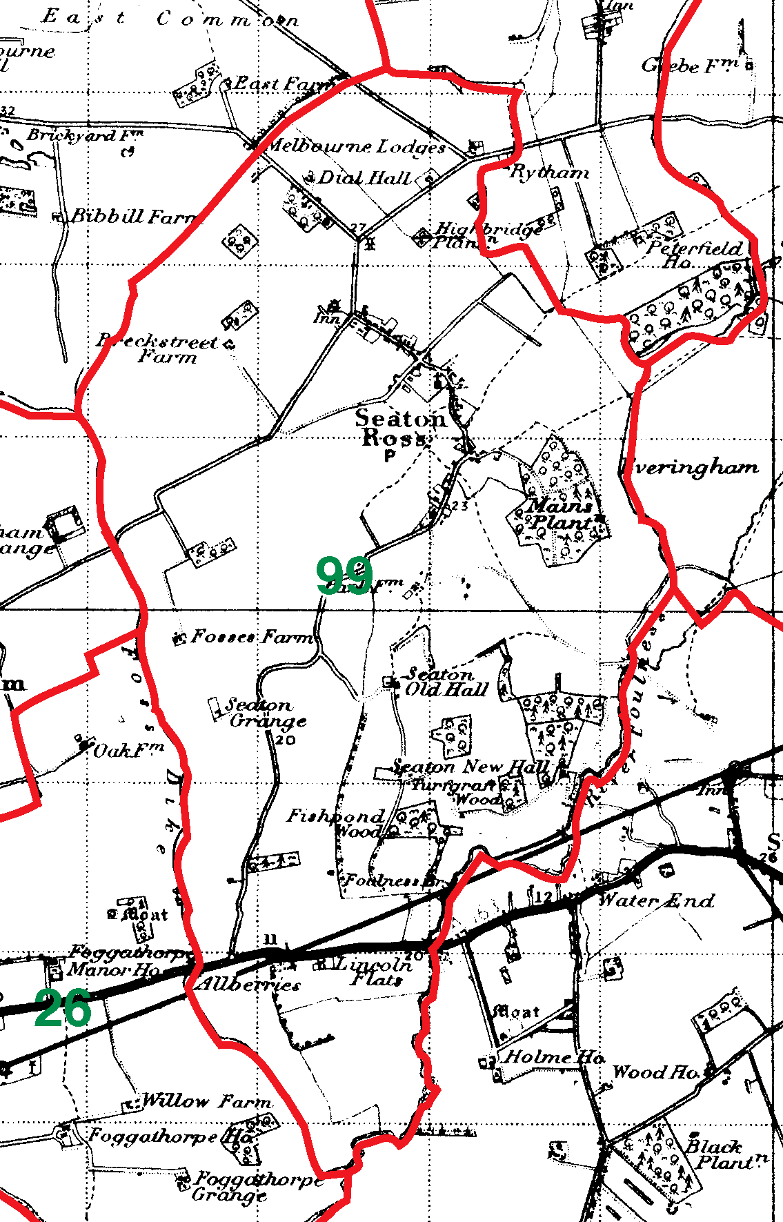 Seaton Ross boundaries map