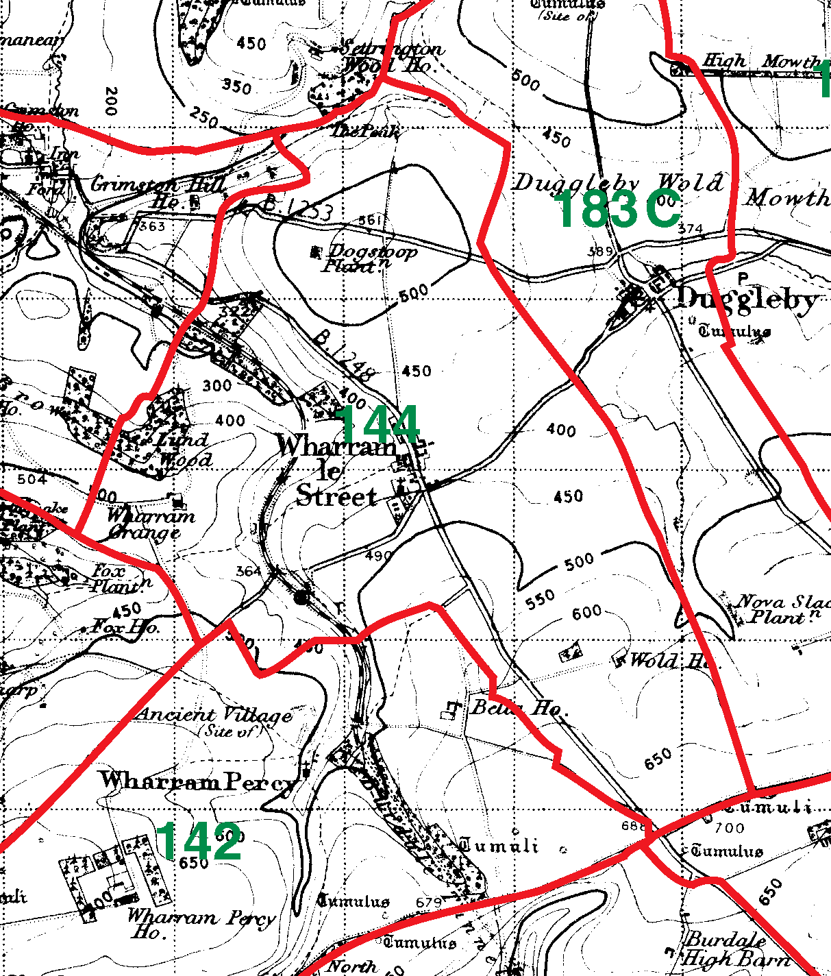 Wharram Le Street boundaries map