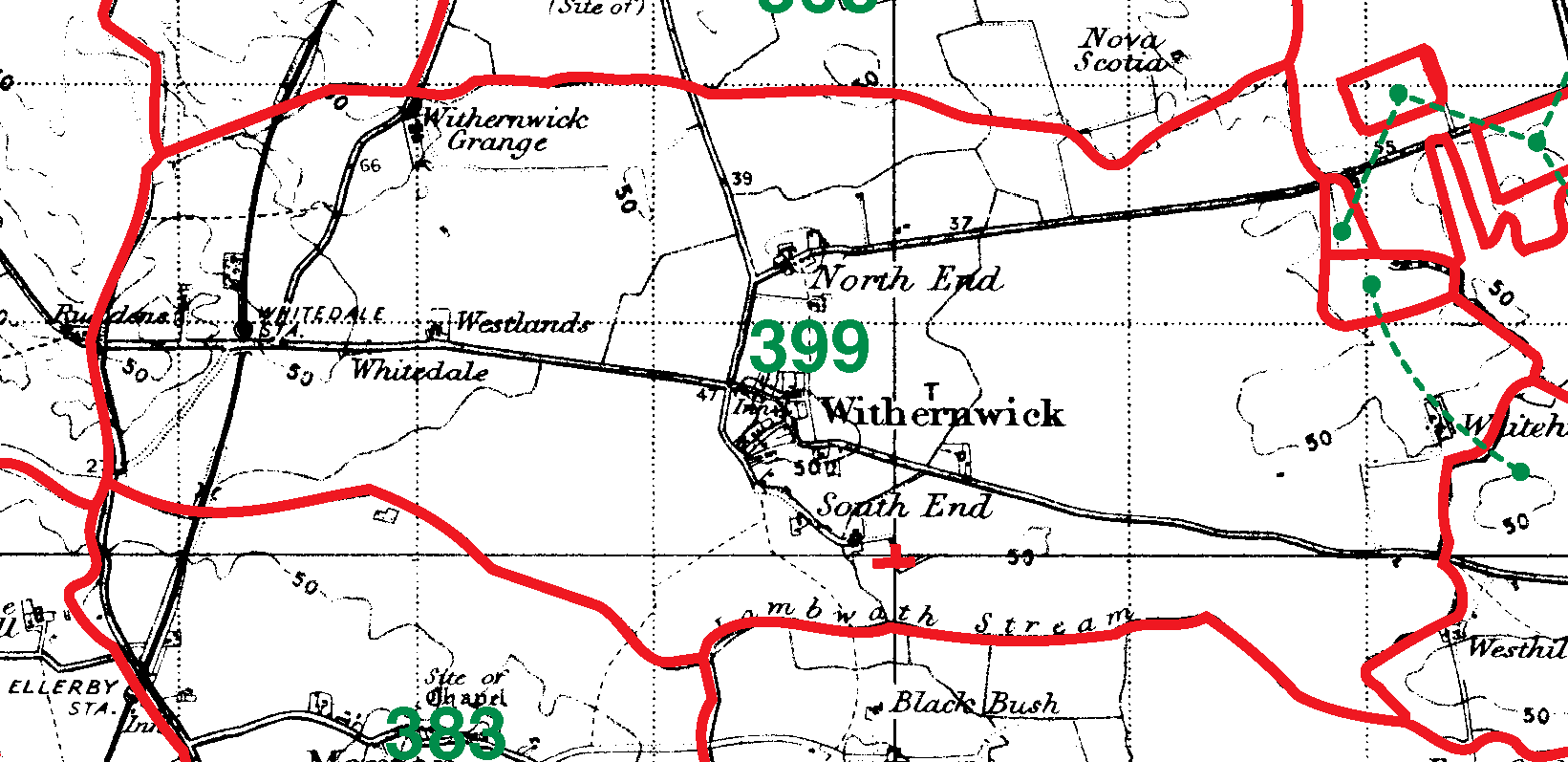 Withernwick boundaries map