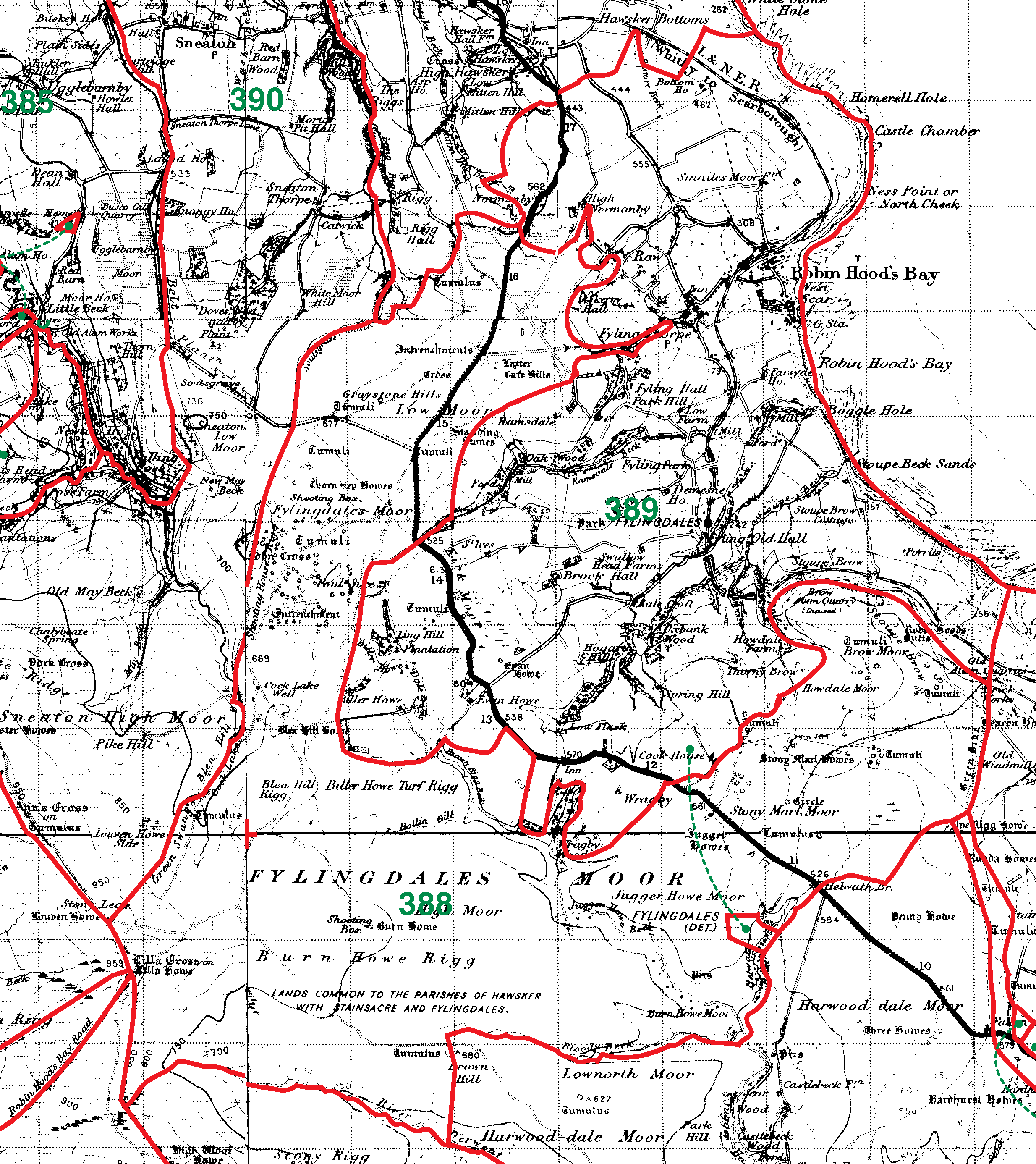Fylingdales boundaries map