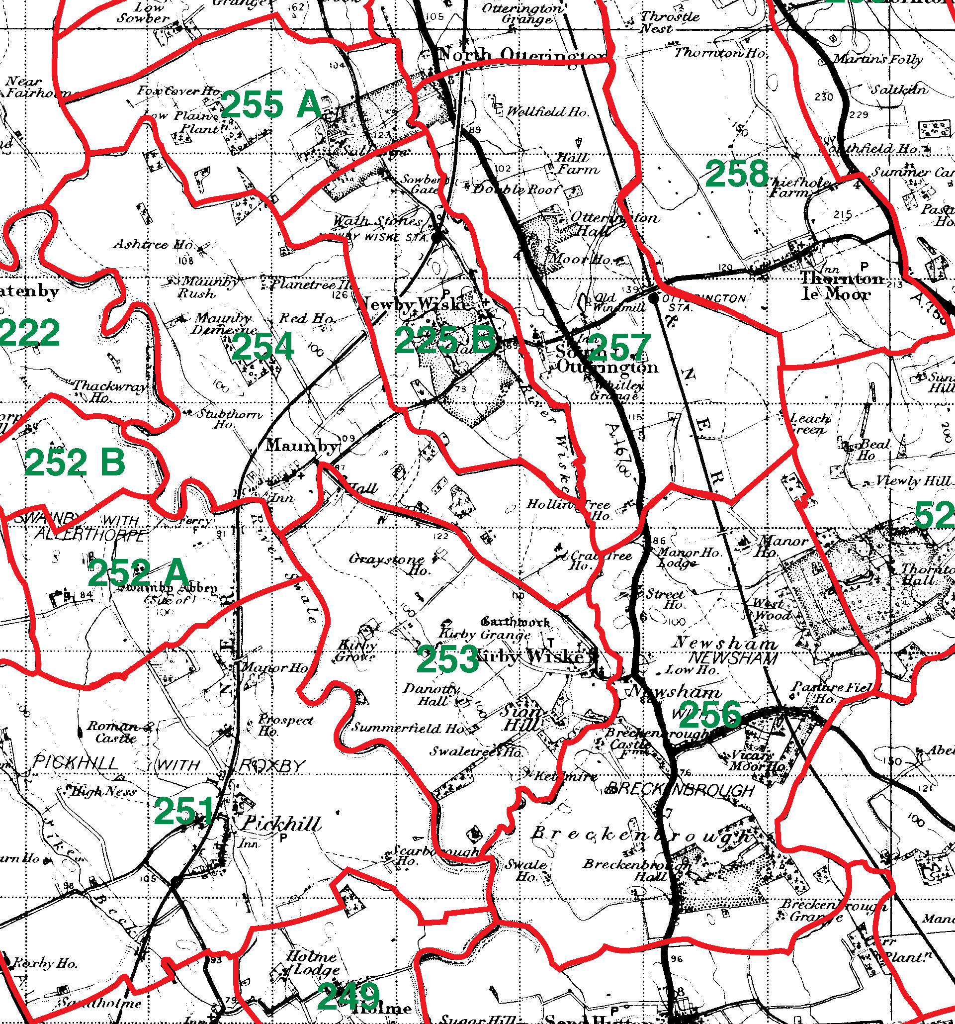 Kirby Wiske boundaries map