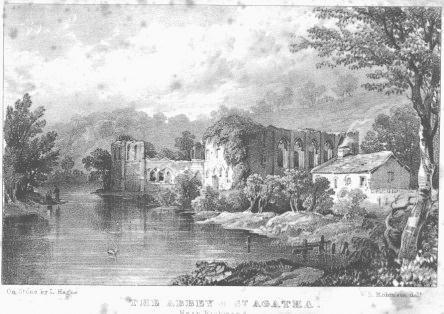 Engraving of Richmond Castle
