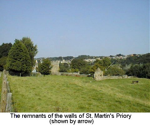 St. Martin's Priory wall remnants, Richmond