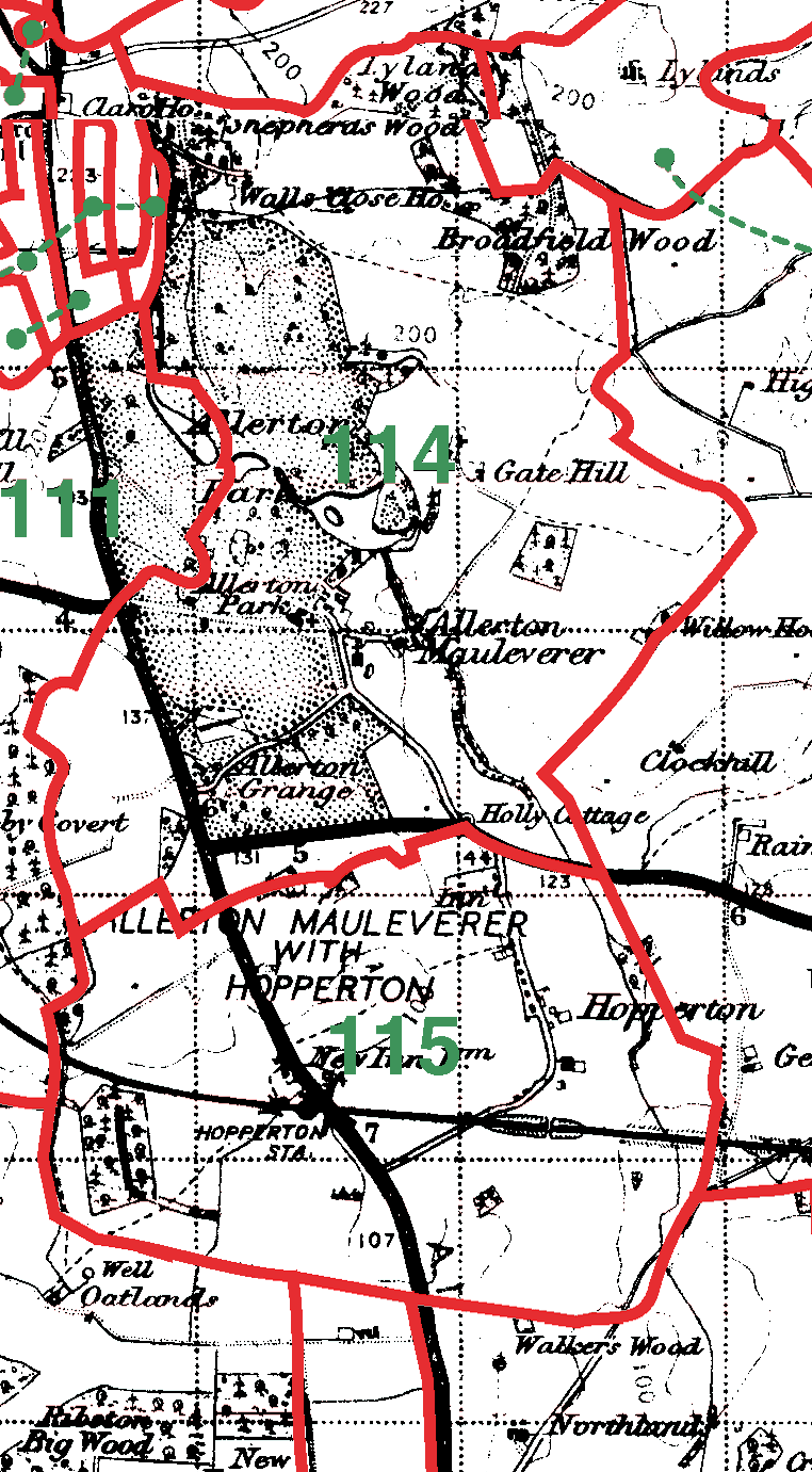 Allerton Mauleverer boundaries map