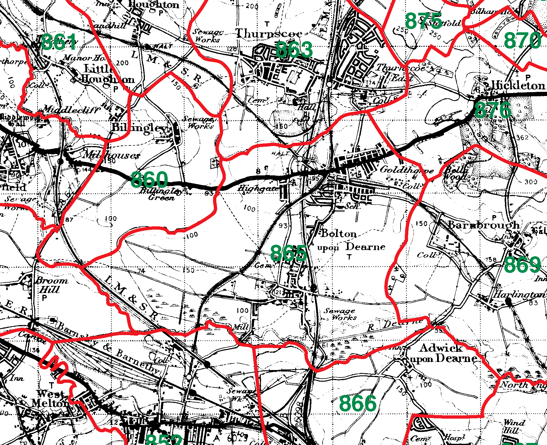 Bolton Upon Dearne boundaries map