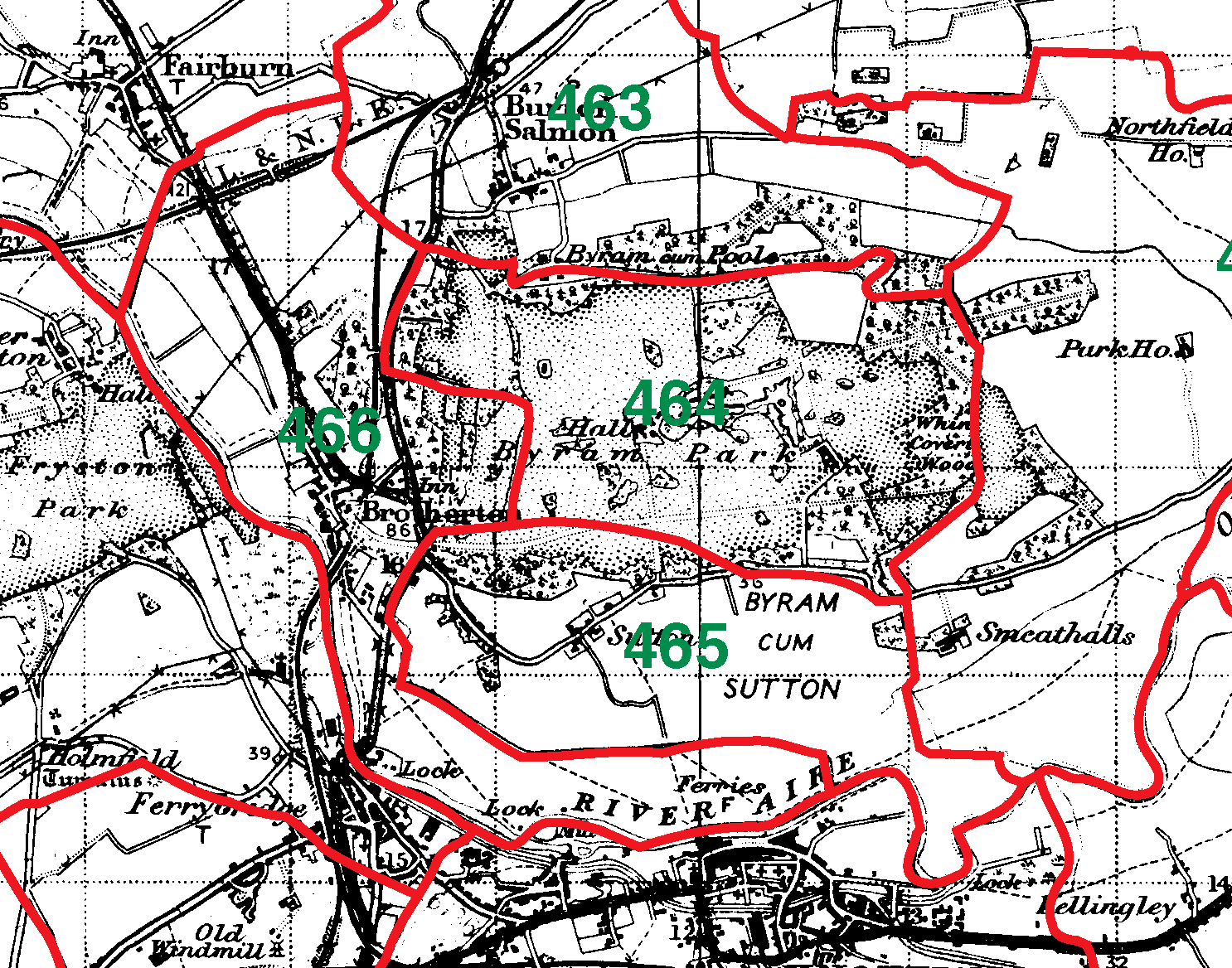 Brotherton boundaries map