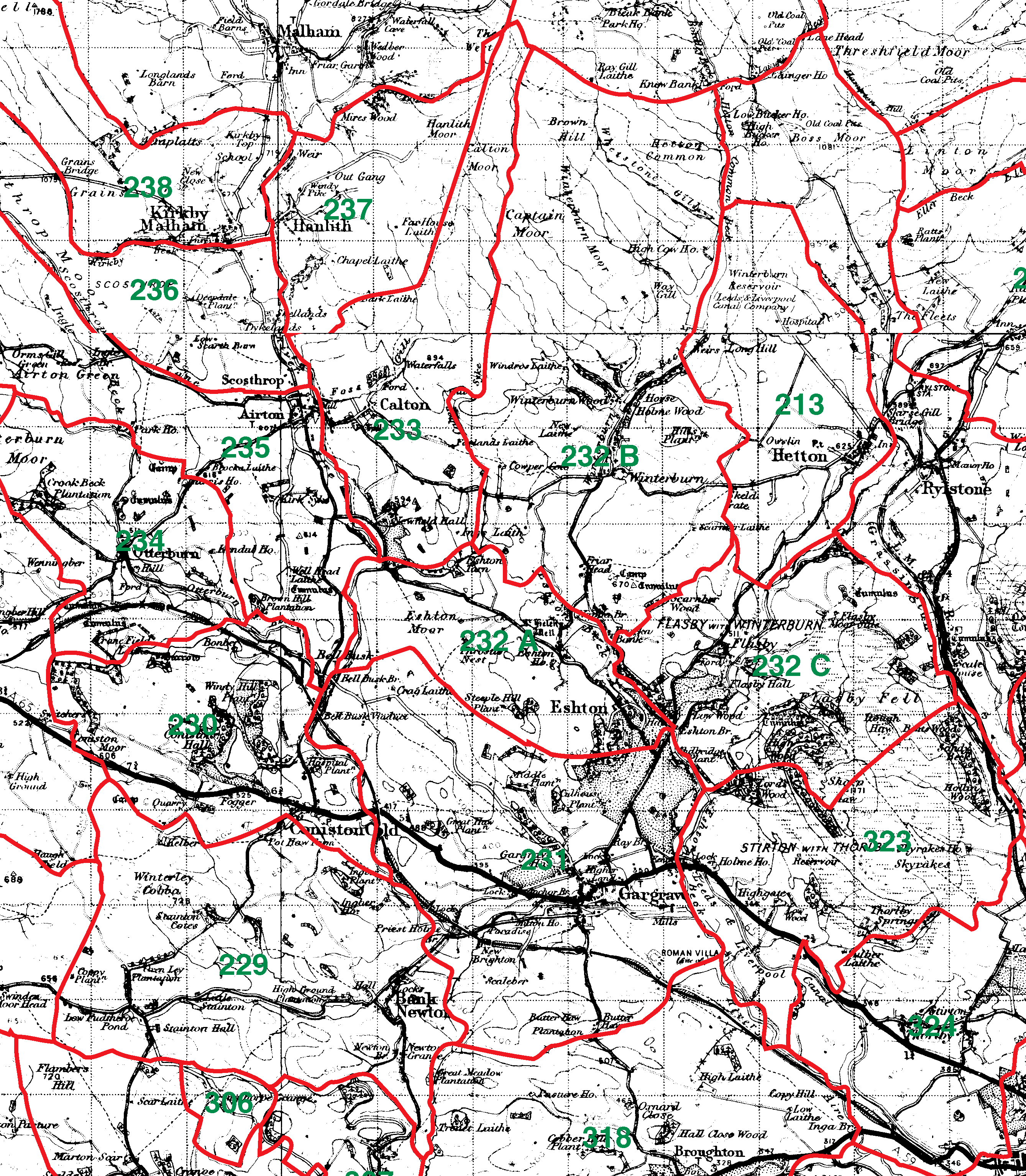 Gargrave boundaries map