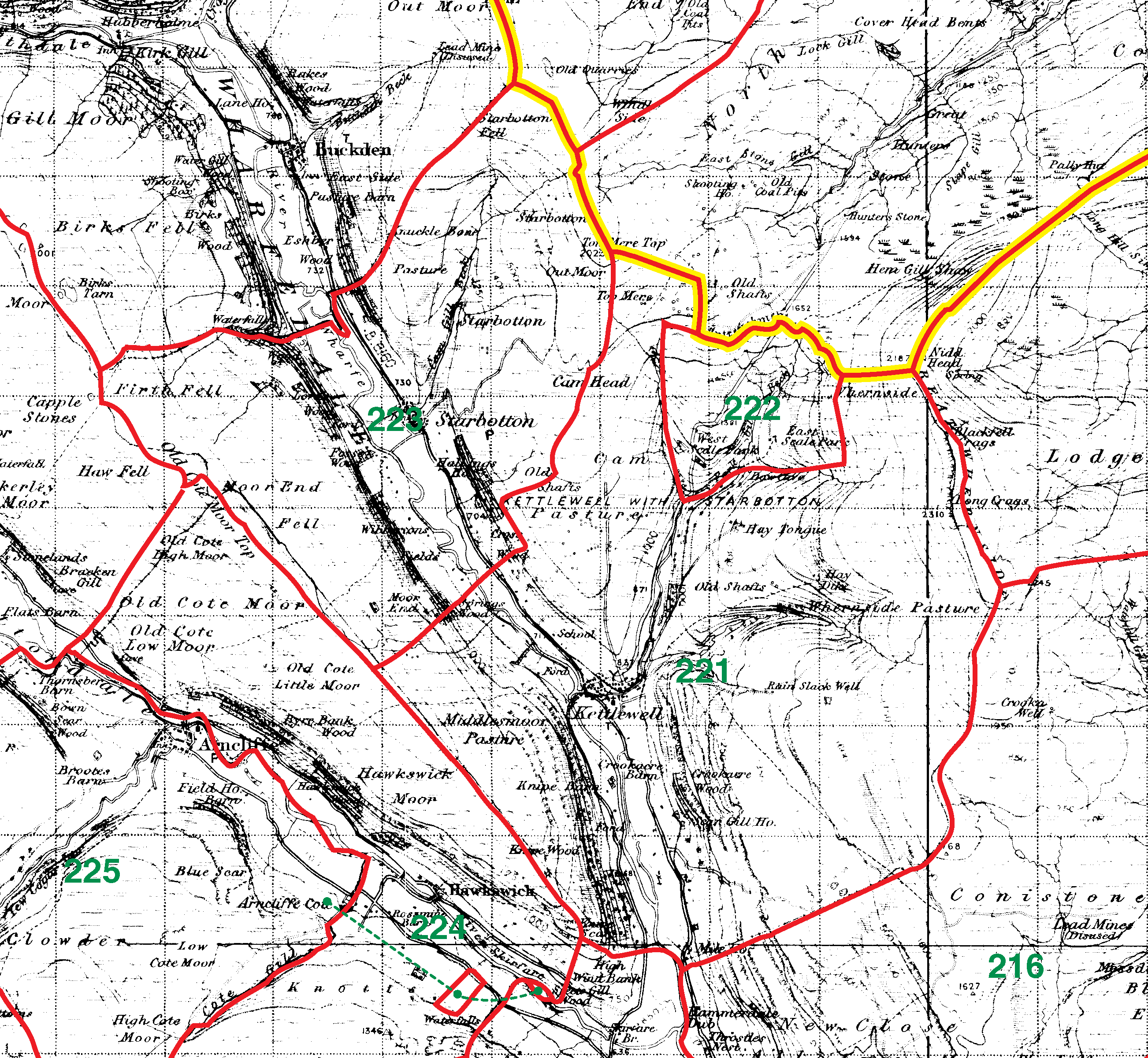 Kettlewell boundaries map