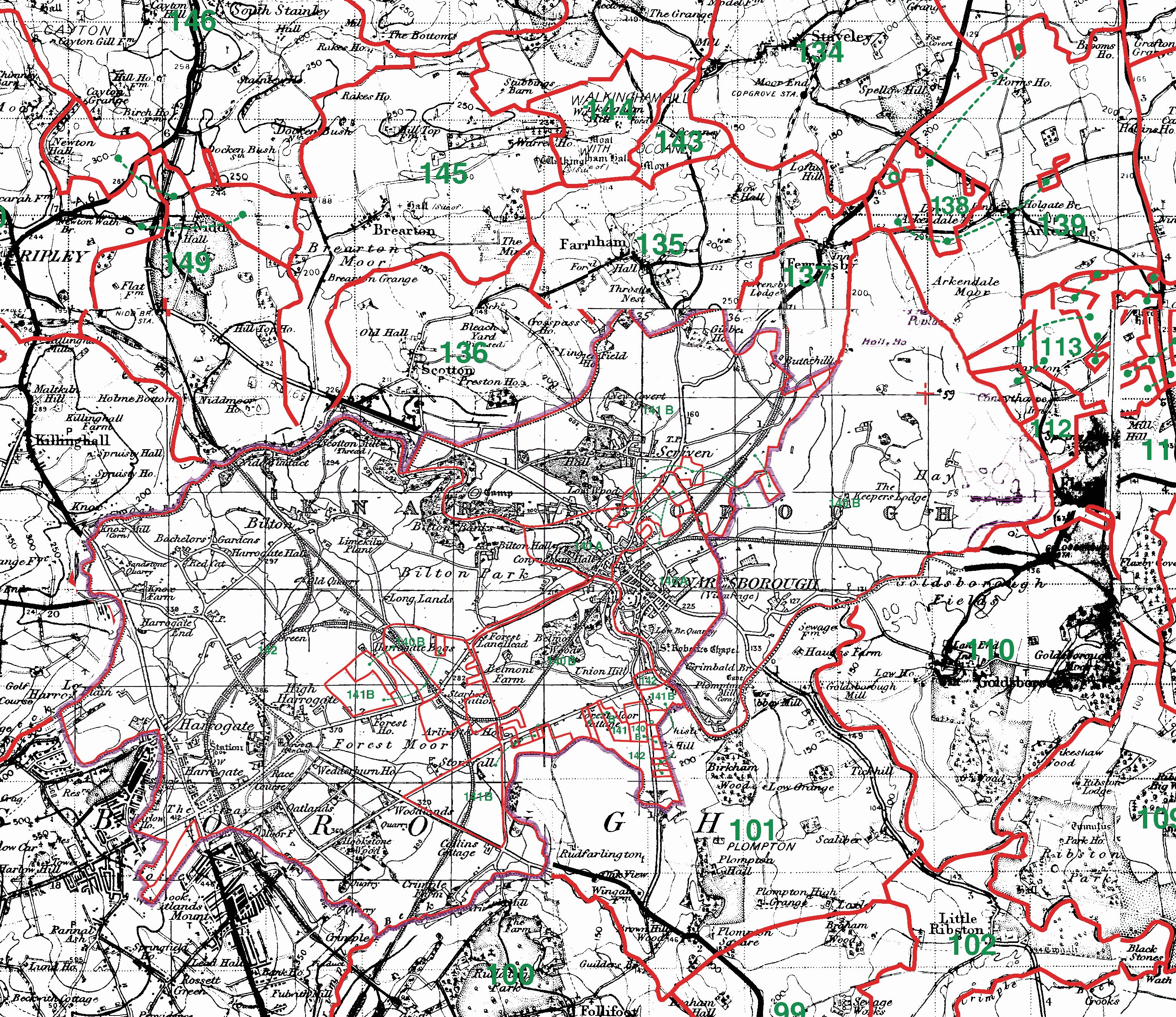 Knaresborough boundaries map