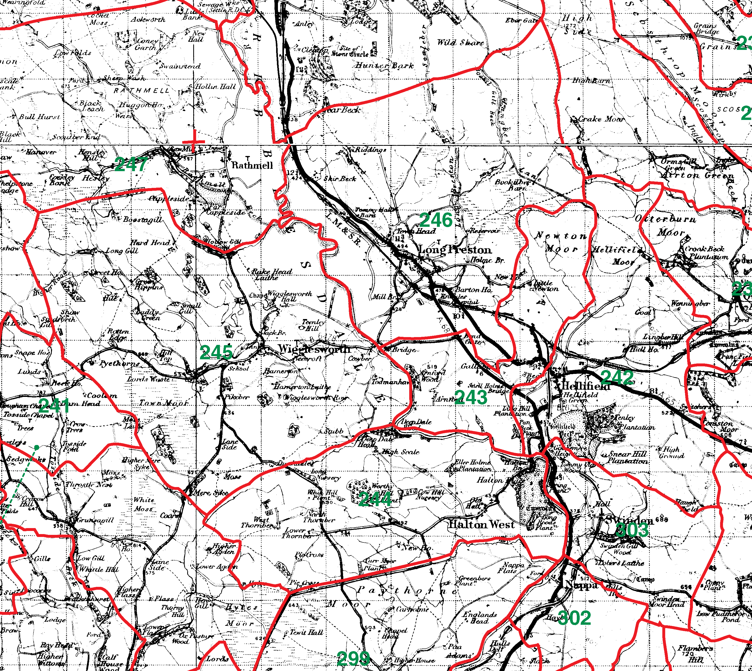 Long Preston boundaries map