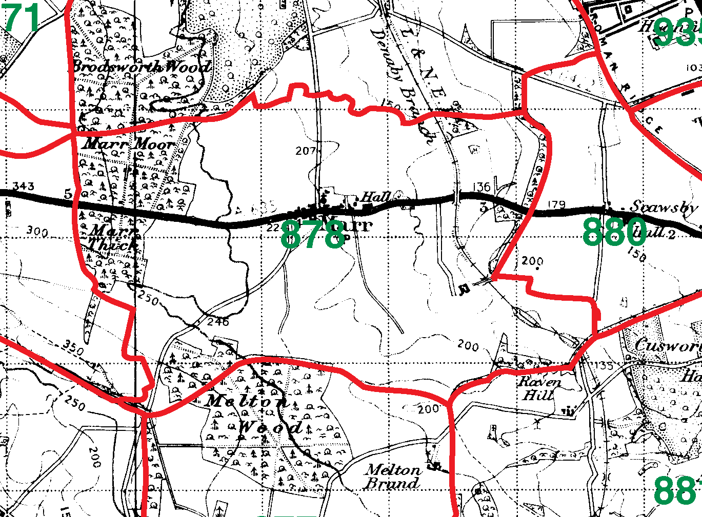 Marr boundaries map
