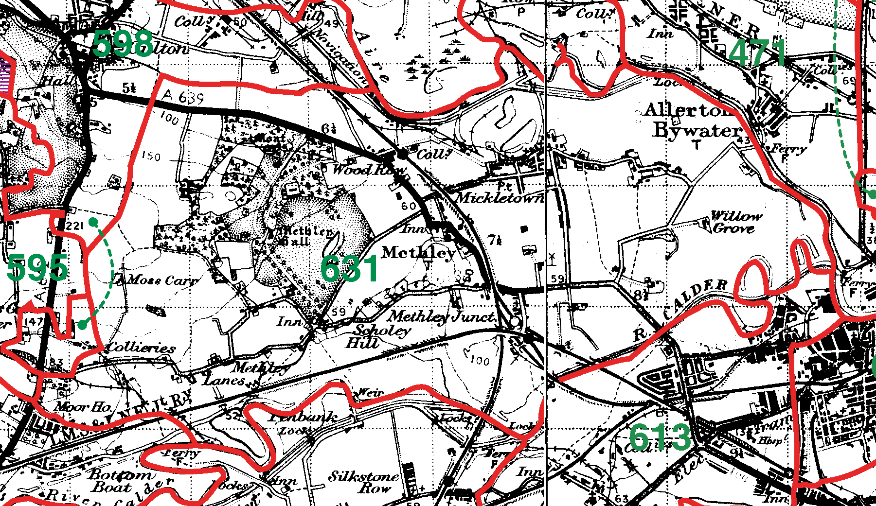 Methley boundaries map