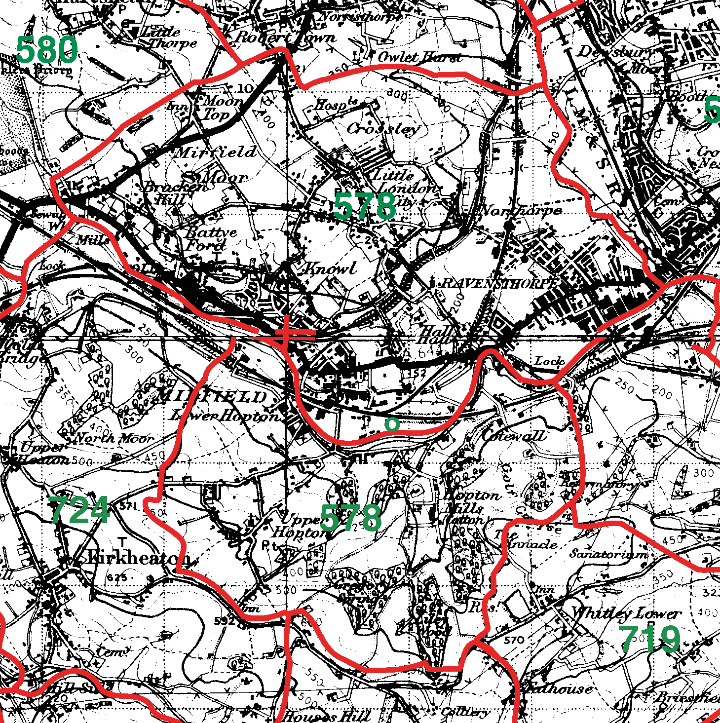 Mirfield boundaries map