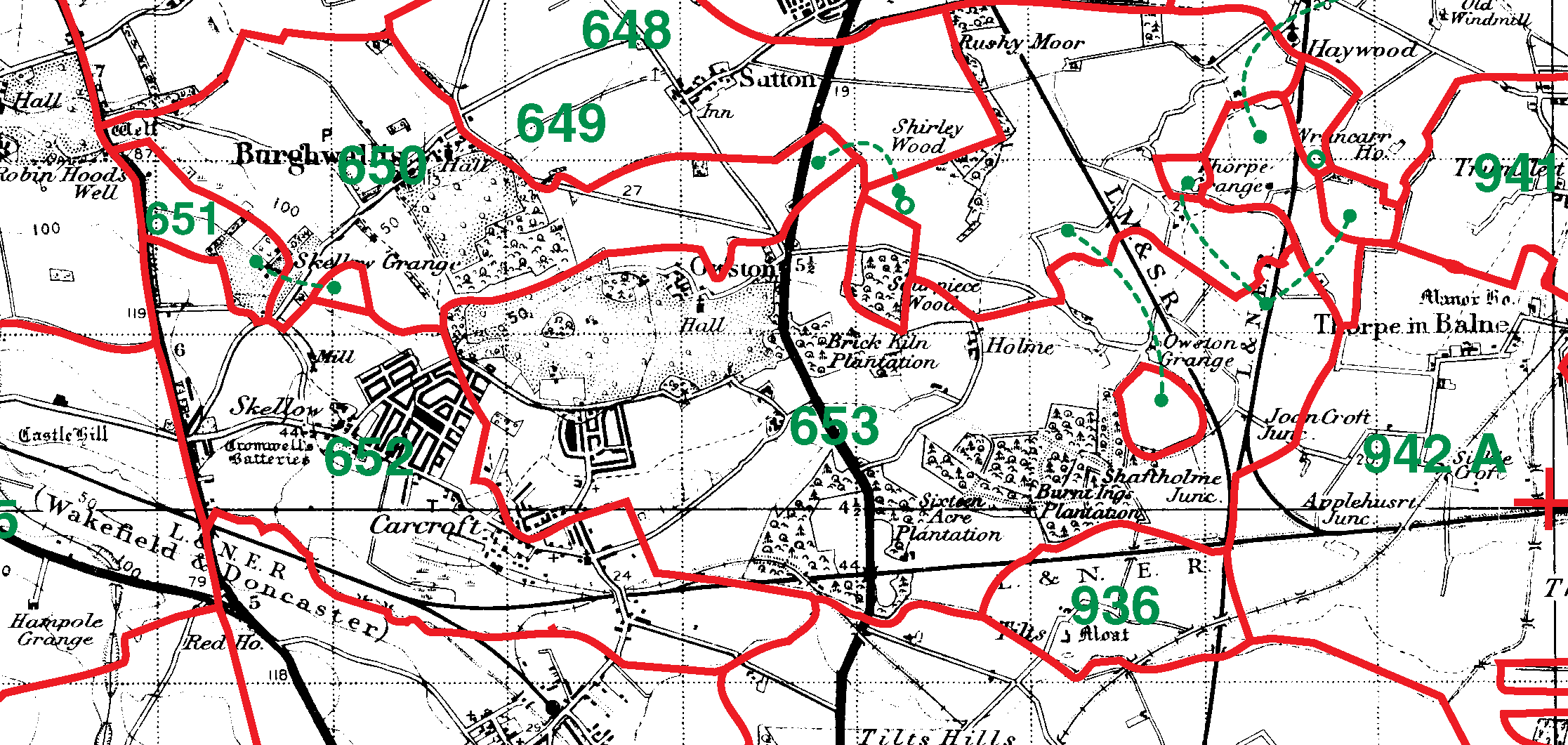 Owston boundaries map