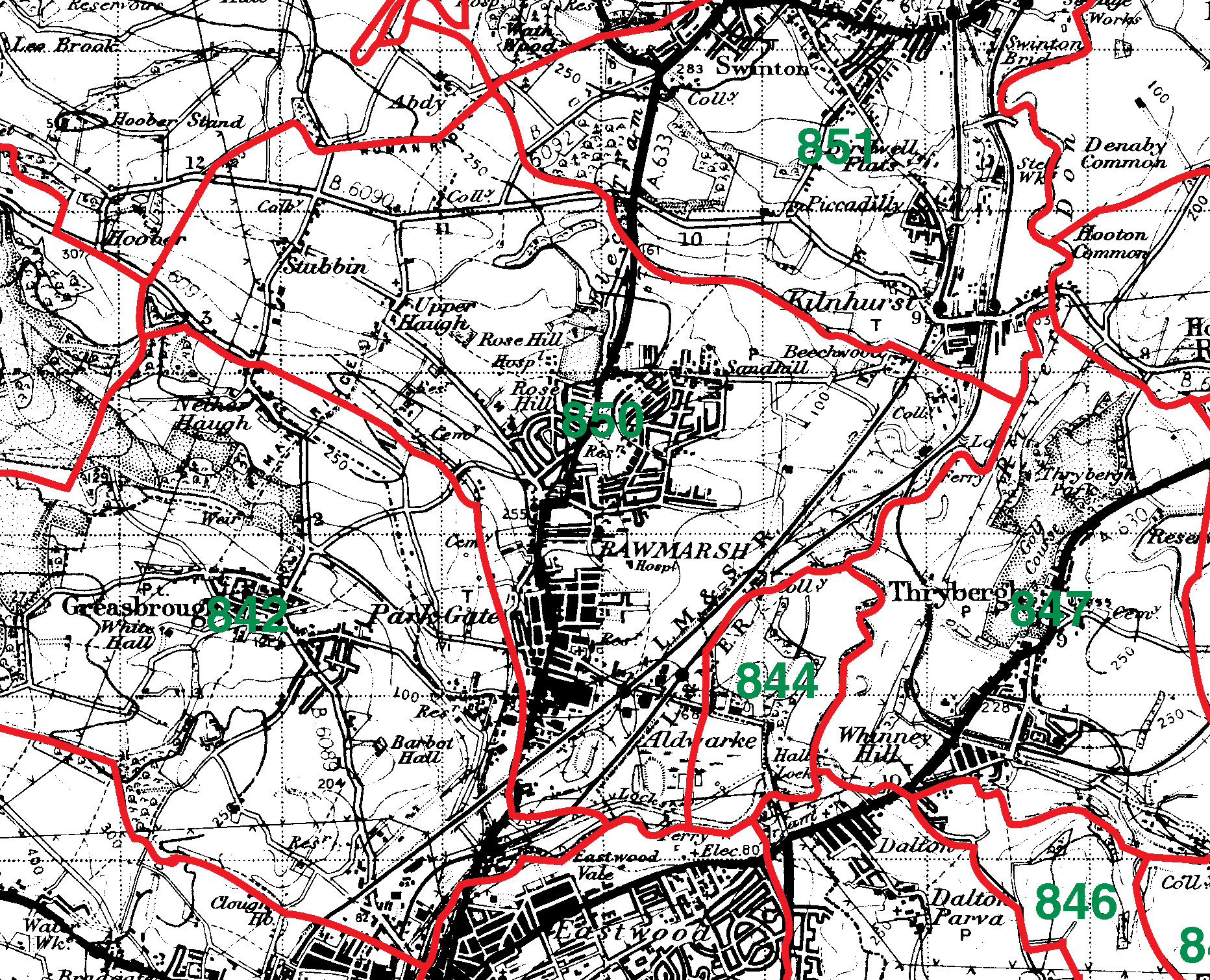 Rawmarsh boundaries map