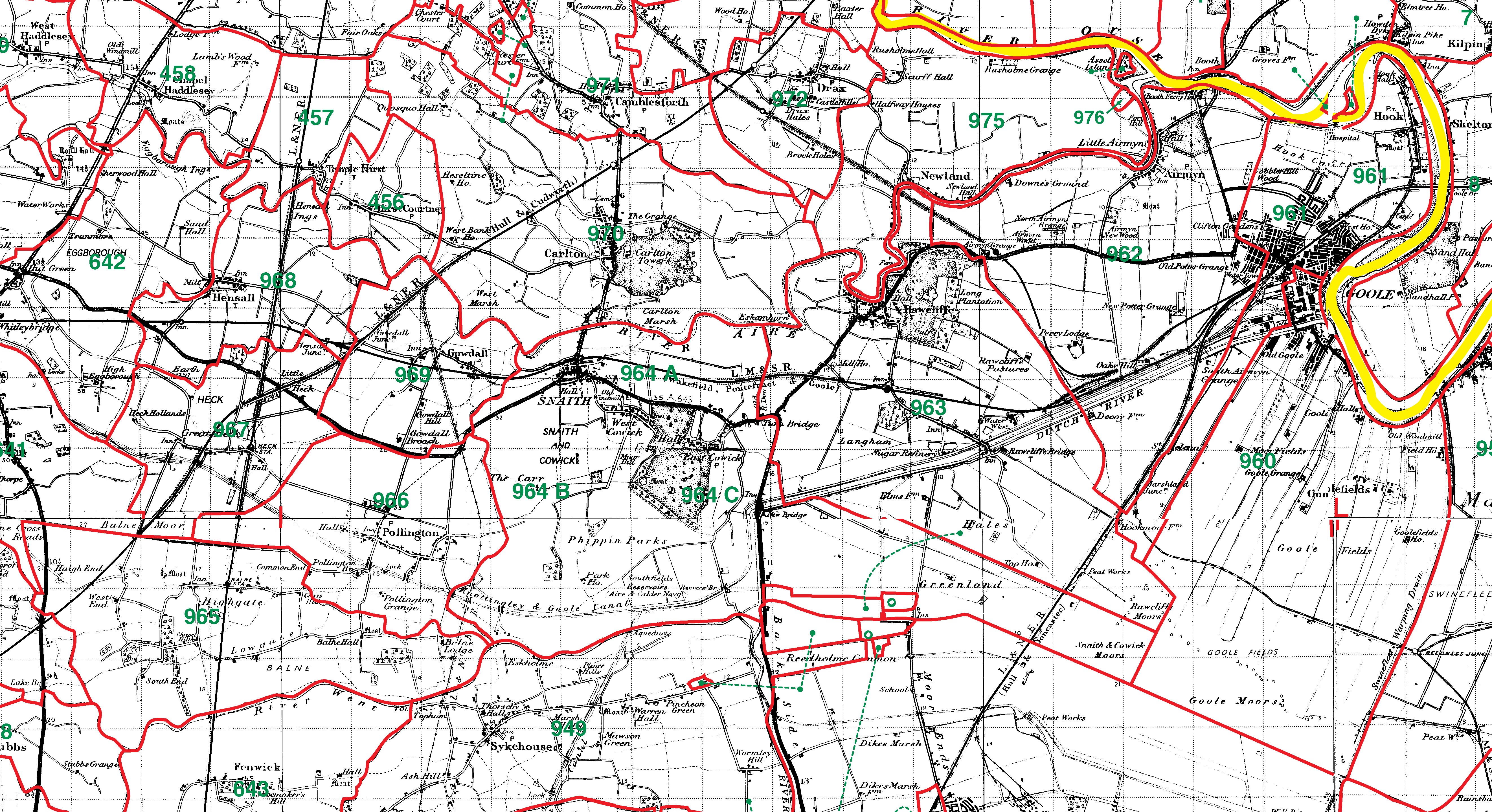 Snaith boundaries map