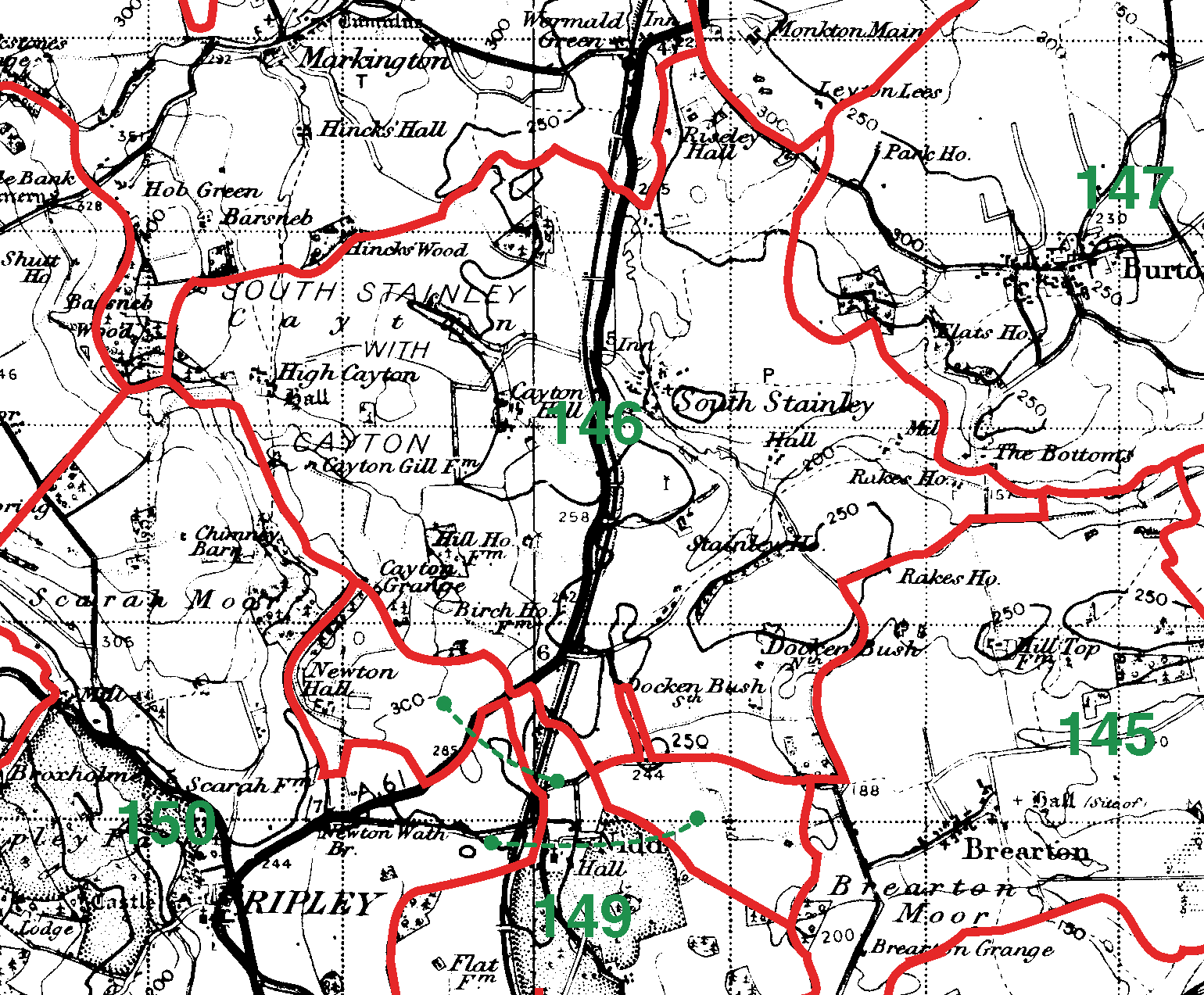 South Stainley boundaries map