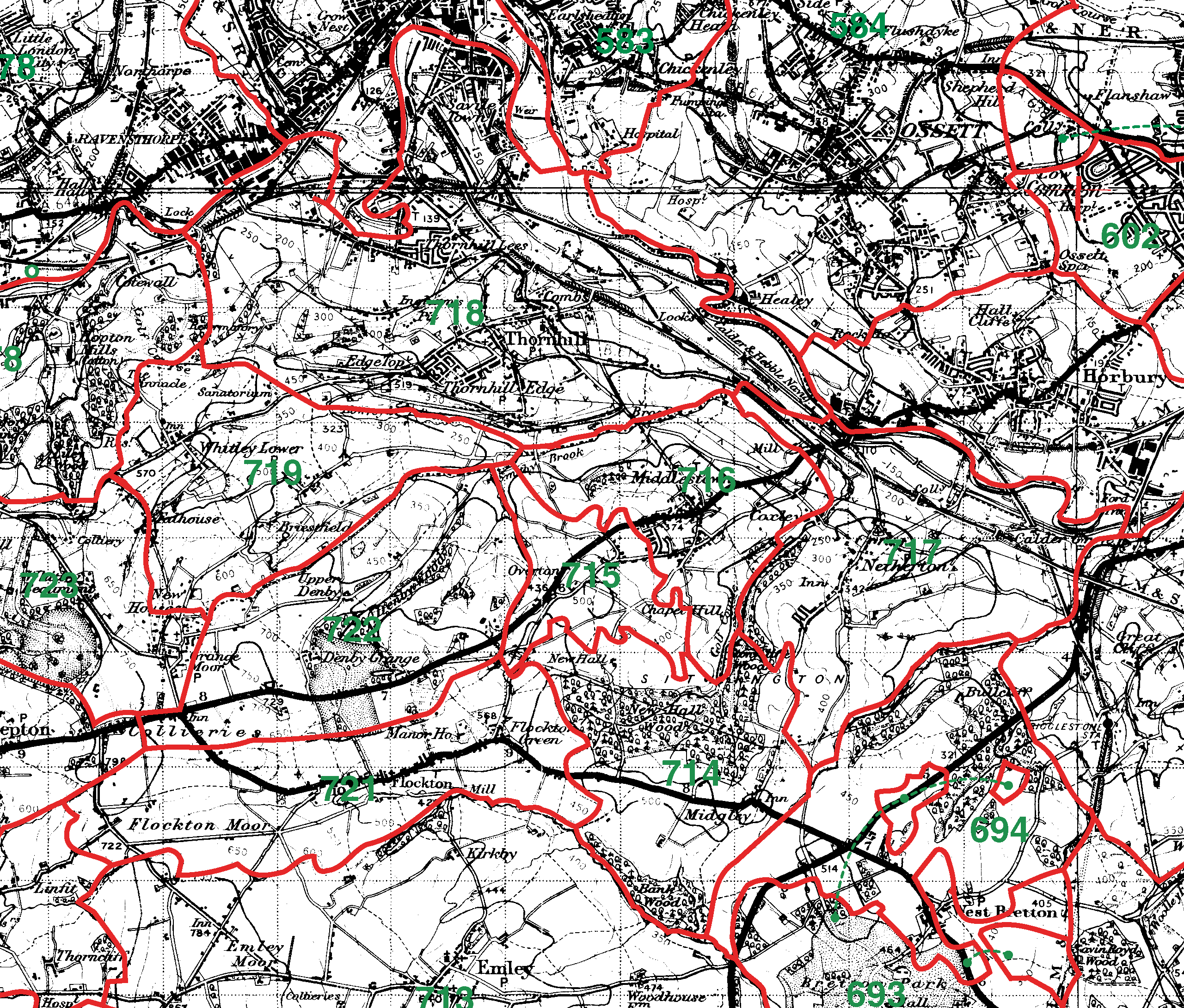 Thornhill boundaries map