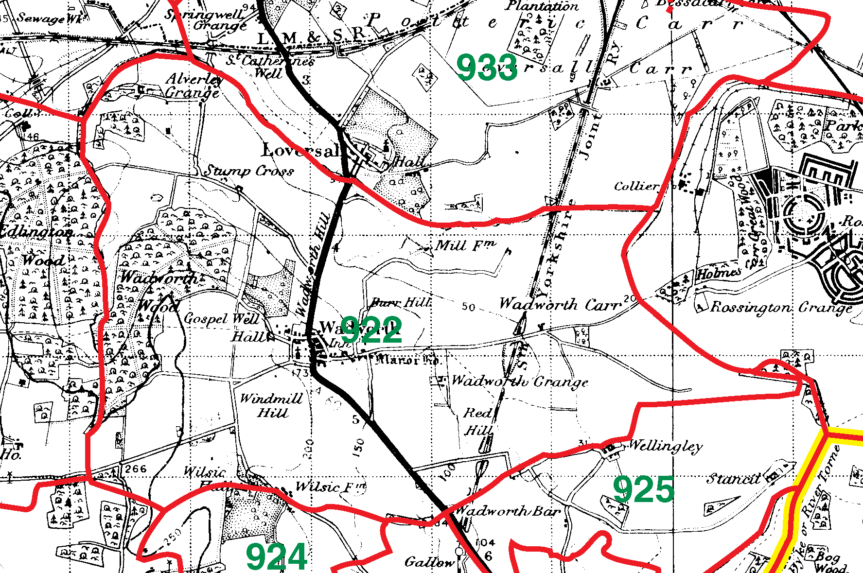 Wadworth boundaries map