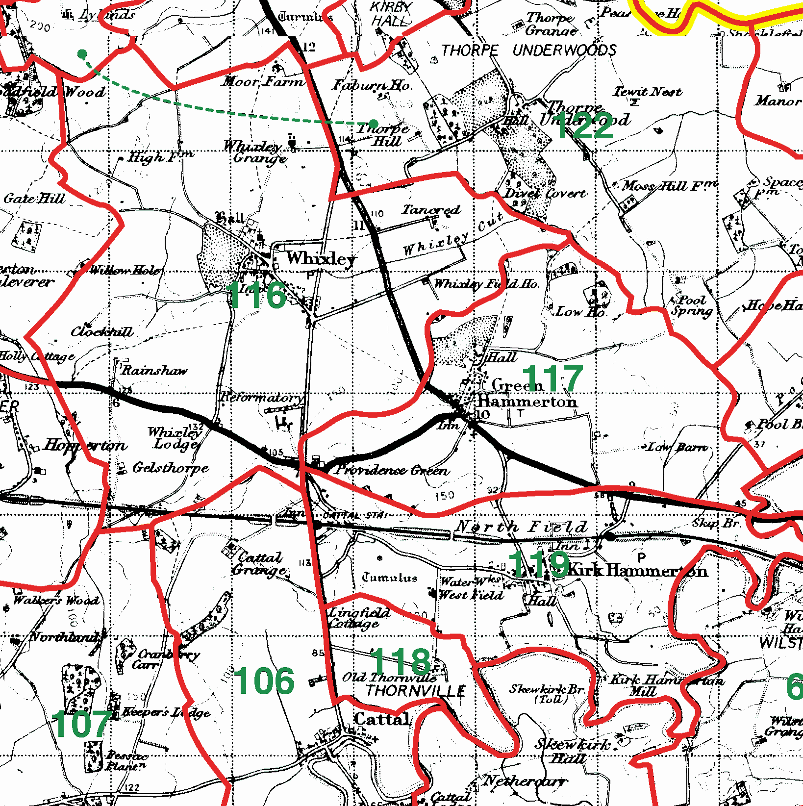 Whixley boundaries map