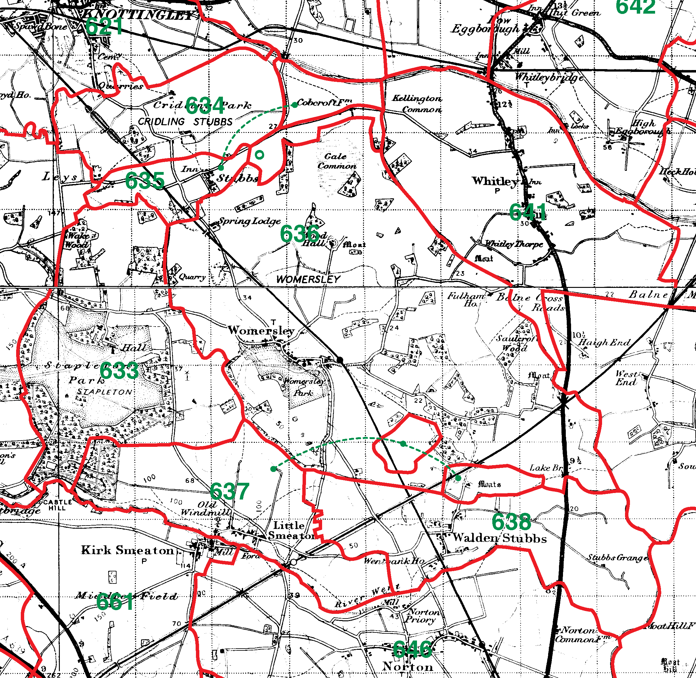 Womersley boundaries map