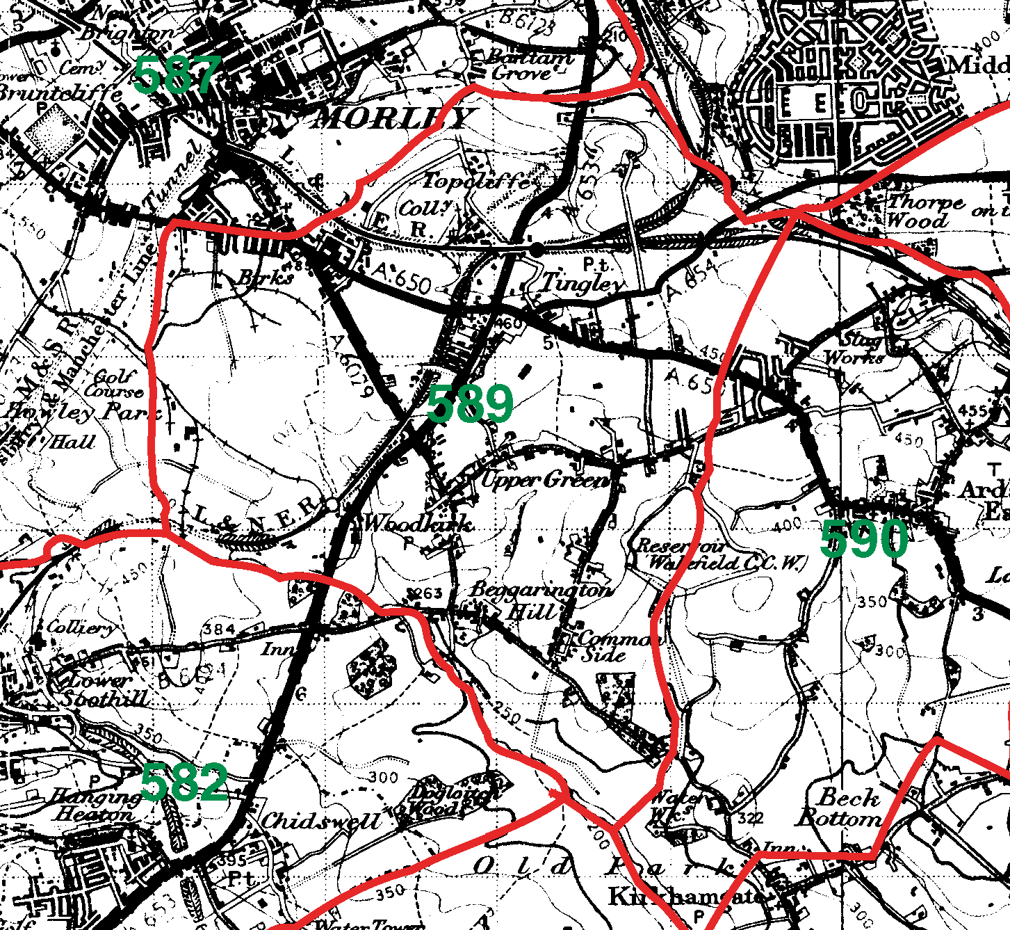 Woodkirk boundaries map