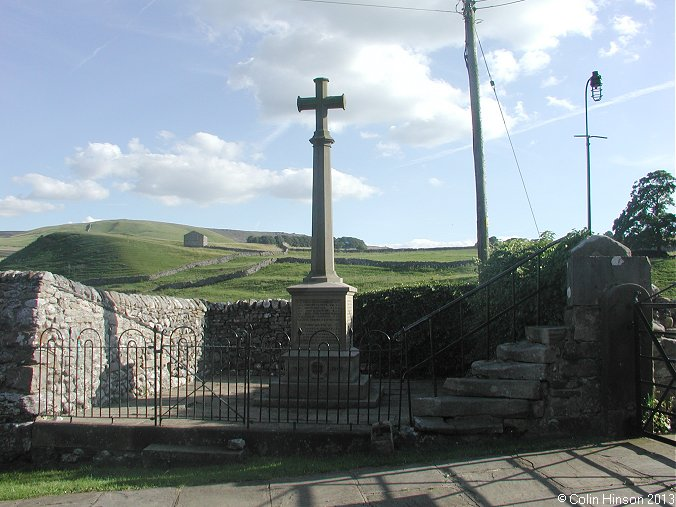 The World wars I and II memorial at Linton in Craven
