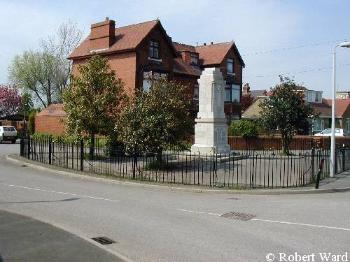 The 1914-18 and 1939-1945 War Memorial Rawcliffe.