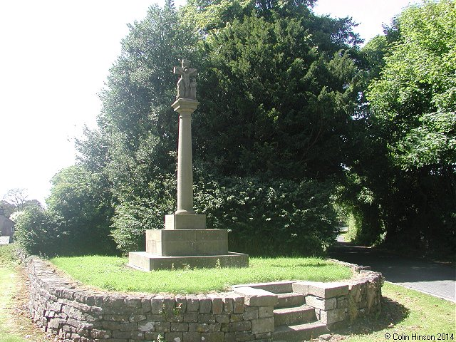The World Wars I and II memorial at West Marton.
