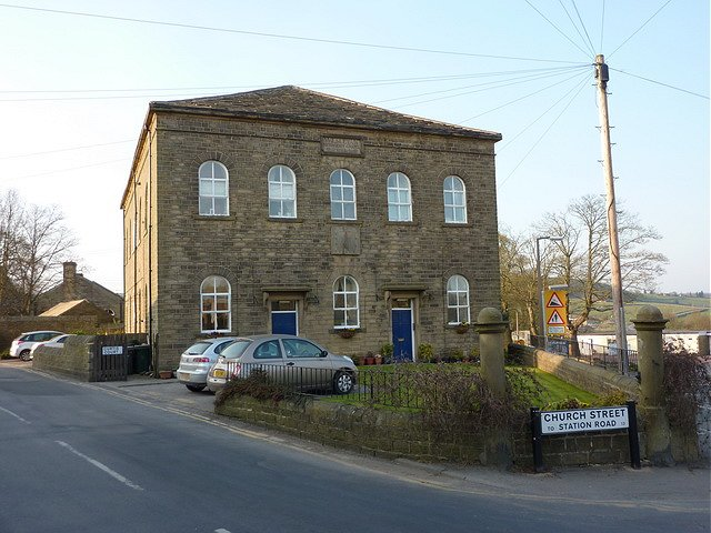 The former Wesleyan Methodist Church, now private housing, Cullingworth