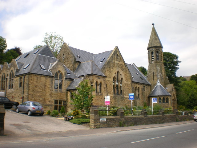 The former Congregational Church and attached Sunday School, Ripponden