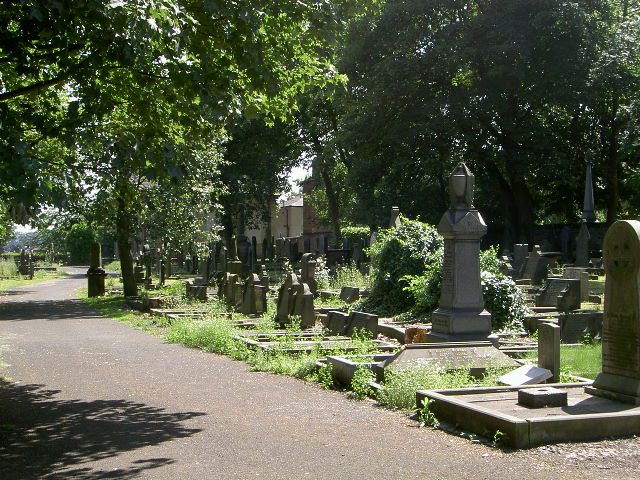 The old Cemetery, Whitecliffe Road, Cleckheaton