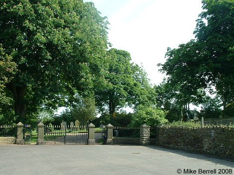 The entrance to the cemetery at Earby, Earby