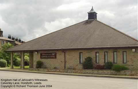The Kingdom Hall of Jehovah's Witnesses, Horsforth